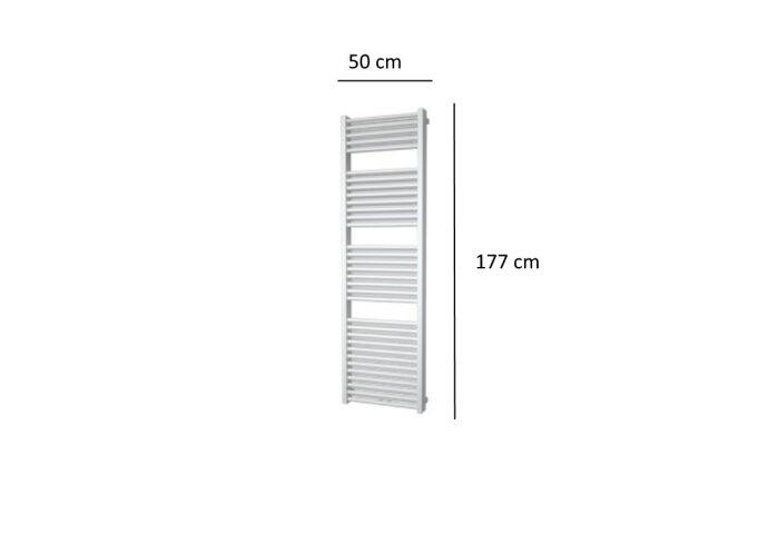 Designradiator Plieger Imola 1155 Watt Middenaansluiting 177x50 cm Wit