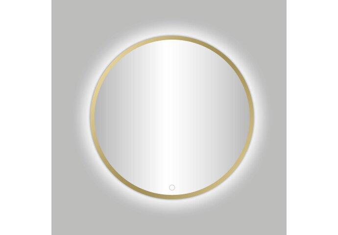 Badkamerspiegel Best Design Venetië Nancy LED Verlichting 80x80 cm Rond Mat Goud