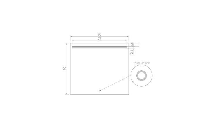 Badkamerspiegel LED BWS Spark 80x70 cm