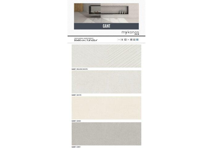 Vloertegel Mykonos Gant Grey 90x90 cm (Doosinhoud 1.62m2)