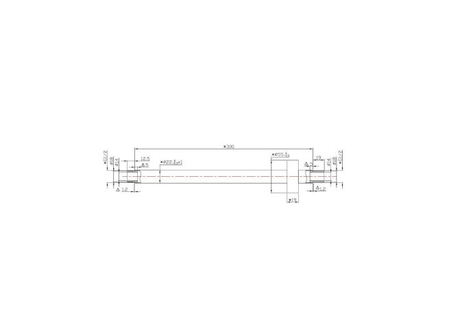 BWS Douche-Arm Luxe Rond Plafondbevestiging 30 cm Mat Zwart