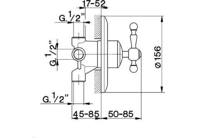 Cisal Arcana Royal 3-weg omsteller AA0027021 Chroom