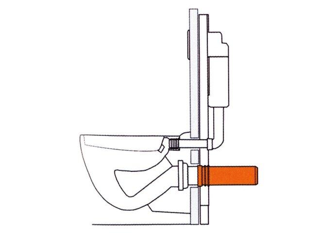 Aansluitbuis Toilet PE 90/110mm L = 346mm no:3964