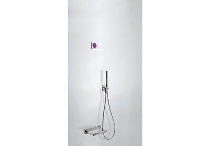 Tres electronische digitale bad inbouwthermostaat met handdouche en baduitloop chroom 09286556