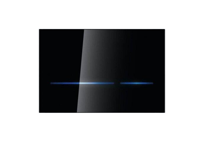 Geberit Sigma 80 Bedieningsplaat Infrarood 230 V Touch Free Zwart Glas