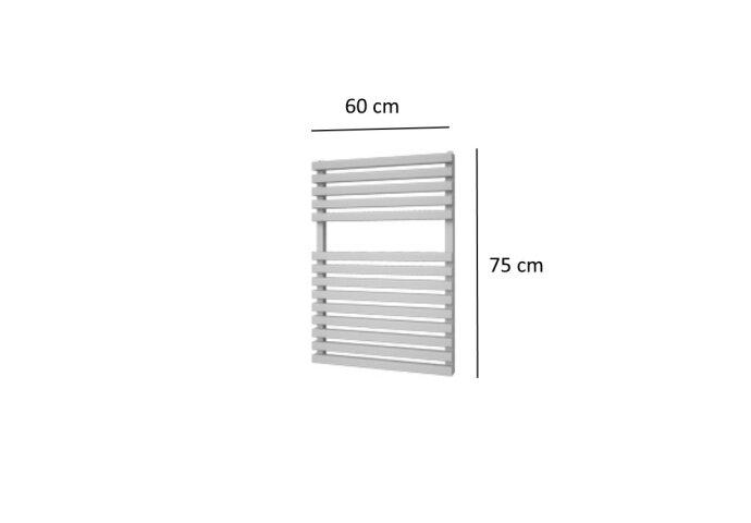 Designradiator Plieger Lugo 495 Watt Vier Aansluitpunten 75x60 cm Wit