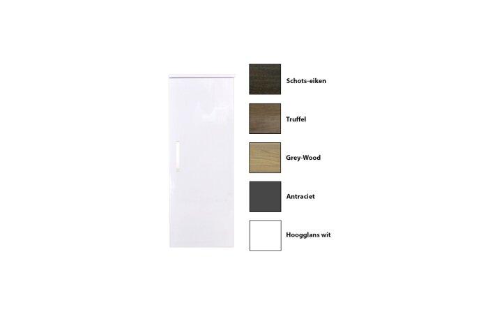 Kolomkast Sanicare Q1/Q12/Q17 Soft-Close Deur Chromen Greep 90x33,5x32 cm Grey-Wood