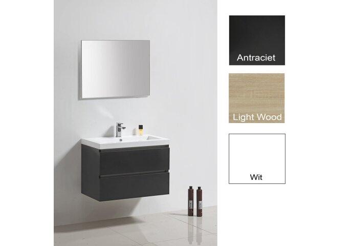 Badkamermeubelset Sanilux Trendline 80x47x50 cm Light Wood