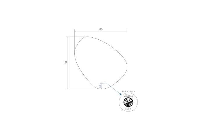 Badkamerspiegel LED BWS Spark Pendel 80x80 cm