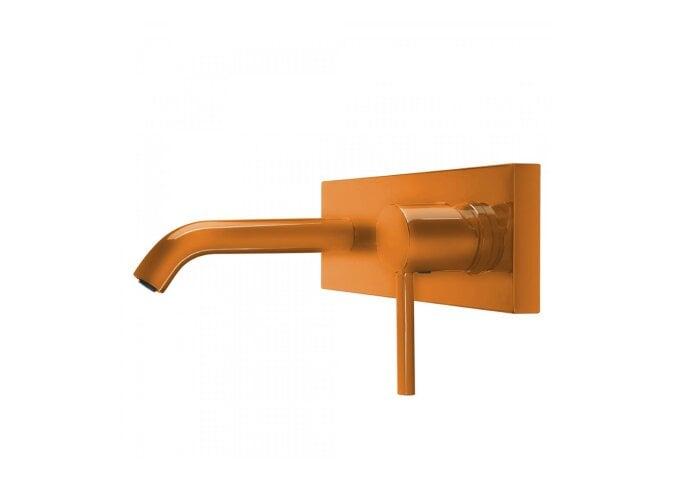 Wastafelmengkraan Inbouw Tres Study Colors 1-Hendel Uitloop Recht 14 cm Rond Oranje