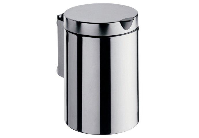 Afvalemmer voor wandmontage Start met deksel 3 liter chroom
