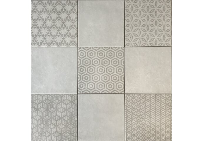 Wandtegel Kaza Decor Gris 20x20 (Doosinhoud 1,6 M²)