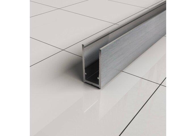 BWS Inloopdouche Pro Line Helderglas 8mm Nano Coating RVS Profiel en Stang (ALLE MATEN)