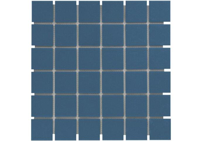 Mozaïek London 30.9x30.9cm Onverglaasd Porselein, Mat Antislip En Blauw (Prijs Per 0.96 m2)