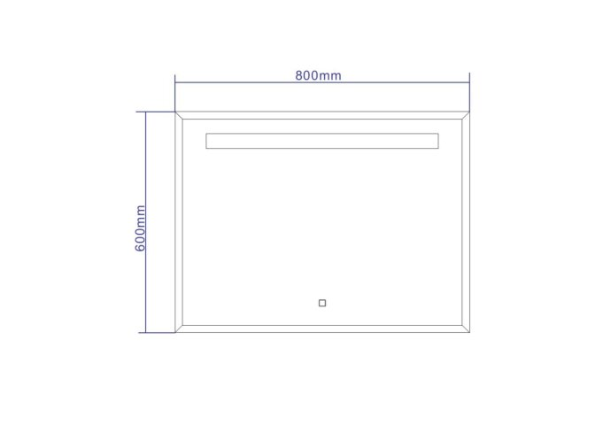 Spiegel Best Design Miracle LED Verlichting 80x60cm