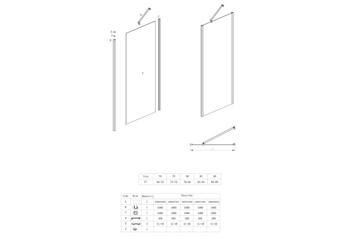 Nisdeur Lacus Montecristo 6mm Nano Helder Glas (alle maten)
