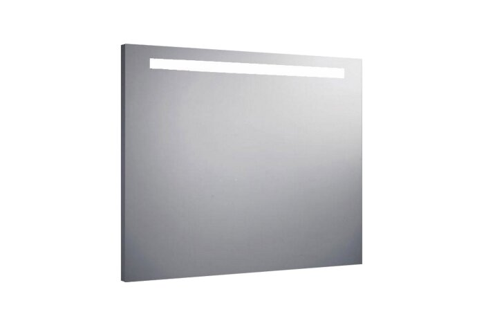 Aluminium spiegel met TL verlichting 100x80cm
