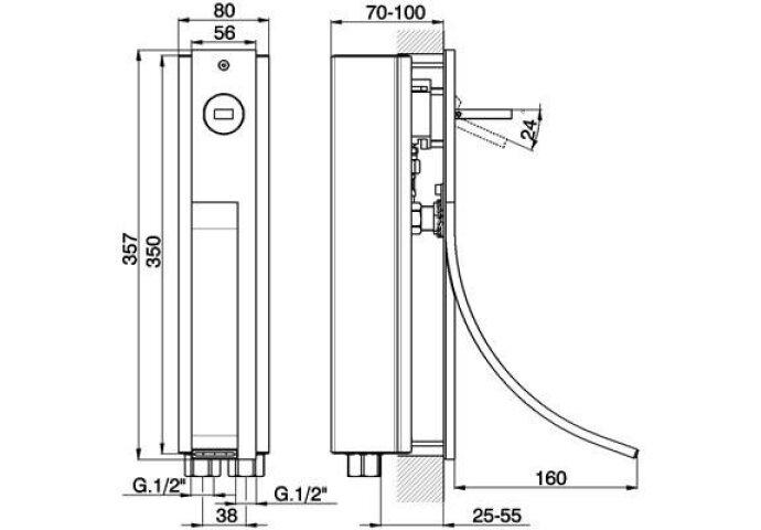 Cisal wave wastafelmengkraan inbouw chroom WA00351021