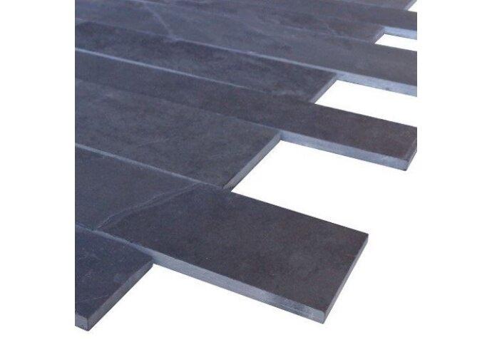 Wandtegel Mustang black leisteen muurstroken (p/m2) (Wandtegels)
