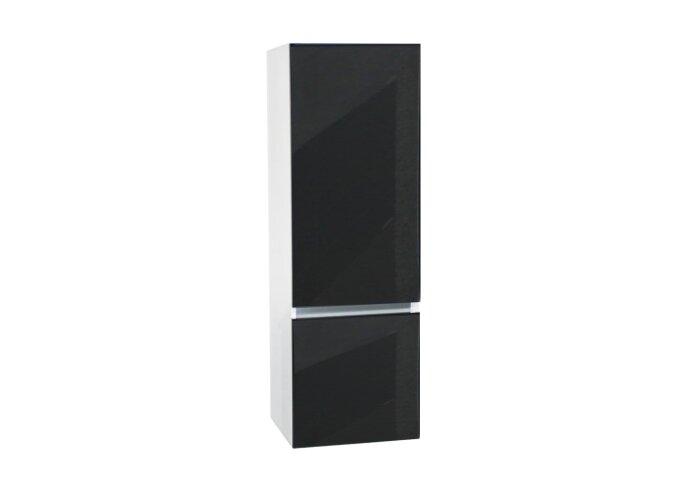 Kolomkast Isvea Twee Soft-Close deuren Greeploos 50x35x150 cm Rechts Hoogglans Antraciet