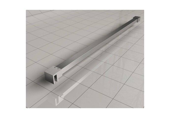 BWS Inloopdouche Pro Line Rookglas 110x200 cm 8mm Nano Coating RVS Profiel en Stang