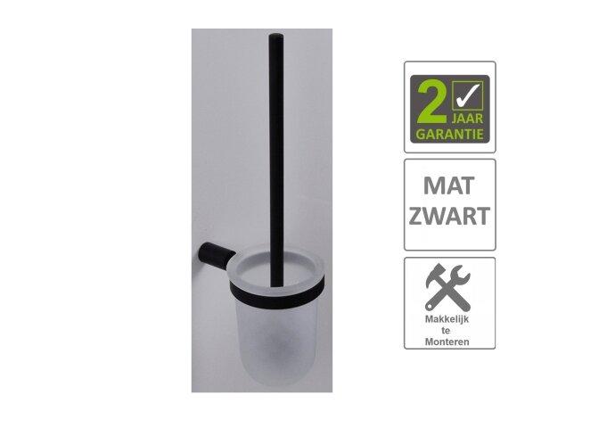 BWS Toiletborstelhouder Mia Mat Zwart