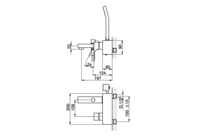Cisal Cubic Badmengkraan opbouw chroom CU00010021