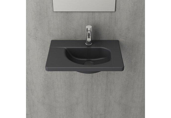 Fontein Creavit 44,5x31x12,5 cm Inclusief 1 Kraangat Mat Antraciet