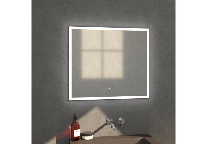 Badkamerspiegel met LED Verlichting Sanitop Edge 80x70x3 cm