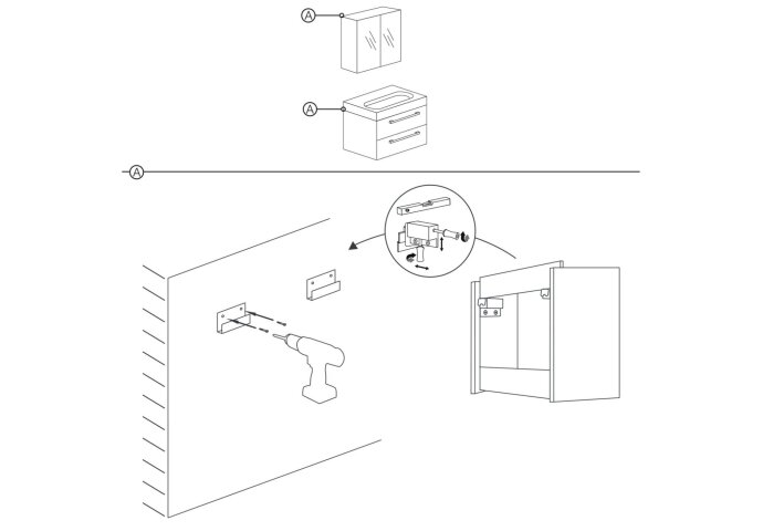 Onderkast Differnz Shallow 79.5x37.5x45cm Antraciet