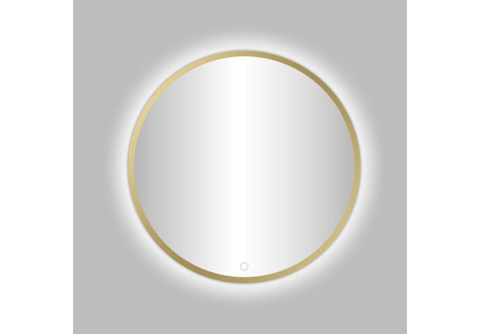 Badkamerspiegel Best Design Venetië Nancy LED Verlichting 100x100 cm Rond Mat Goud