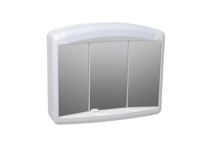 Spiegelkast Plieger Max met 3 Deuren 65x54x17,5 cm Wit