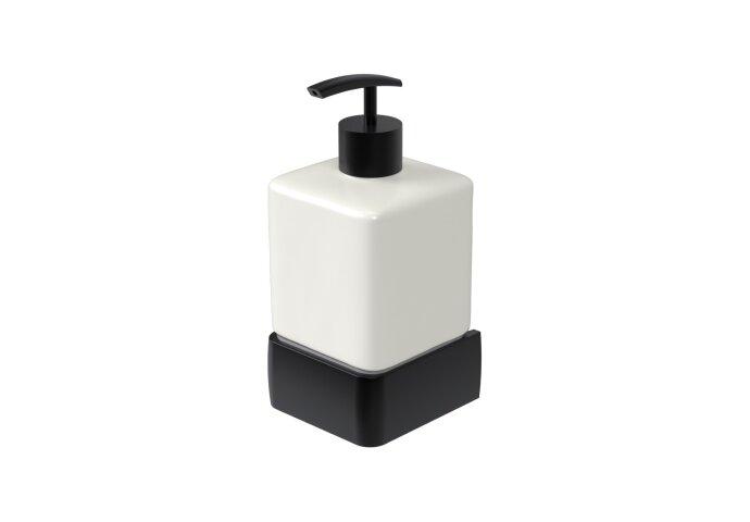 Zeepdispenser Haceka Aline Black 7,4x15,4 cm Aluminium Mat Zwart
