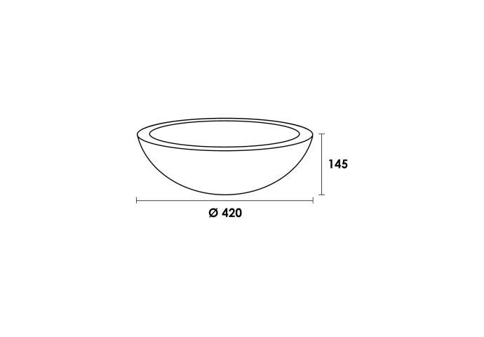 Waskom Bowl natuursteen Corestone No.13 (420x420x140 mm)