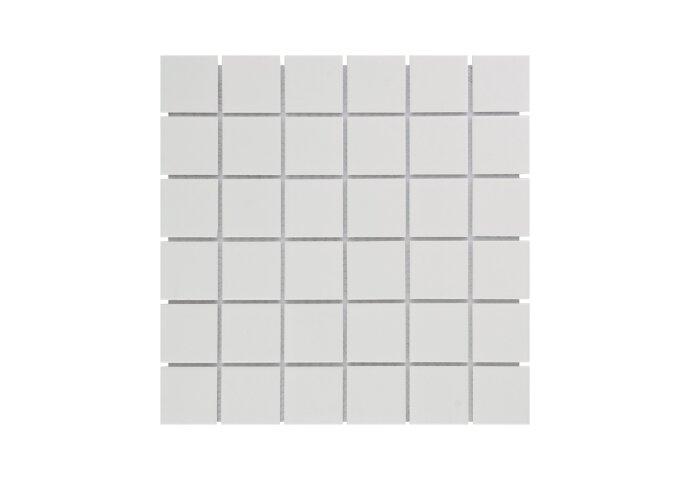 Mozaïek Barcelona 30.9x30.9cm Geglazuurd Porselein Glanzend Extra Wit (Prijs Per 0.95 m2)