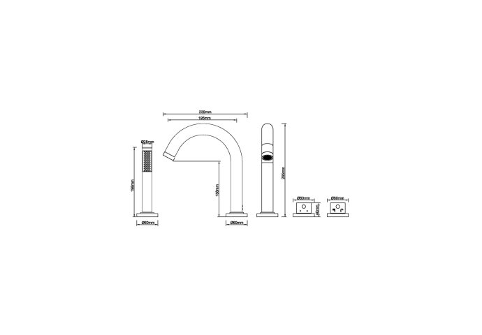 BWS Badrandthermostaat 4Gats Rond Afbouwset RVS (Exclusief Inbouwdeel)