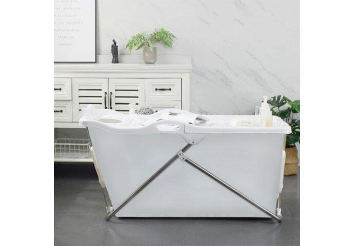 Opvouwbaar Zitbad Bath Bucket 2.0 voor Volwassenen 100x59x57 cm Wit