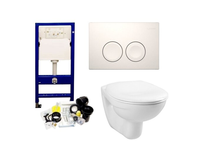 Geberit UP100 Toiletset set01 Boss & Wessing Basic Smart met Delta drukplaat
