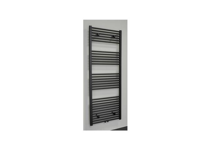 Radiator Sanicare Middenaansluiting Recht 1056 Watt Inclusief Ophanging 160x60 cm Mat Zwart