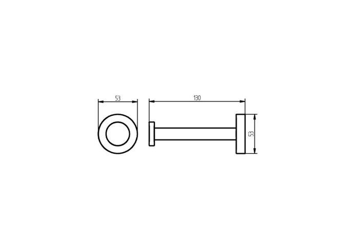 Reserve Toiletrolhouder Haceka Kosmos Mat Wit