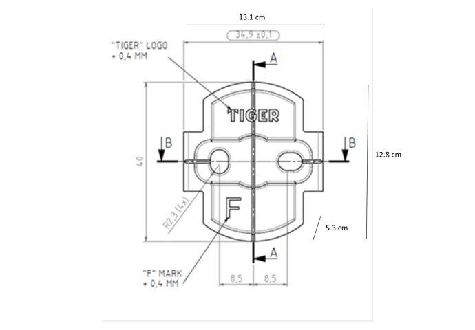 Toiletrolhouder Tiger Items Met Klep Los RVS