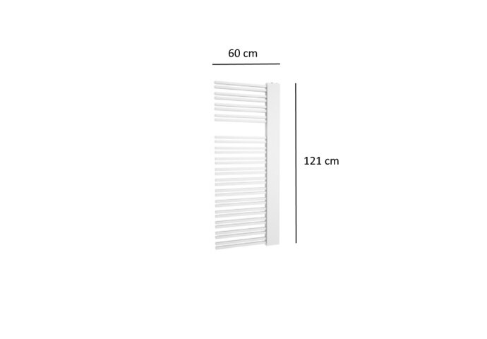 Designradiator Plieger Frente Sinistra 690 Watt Middenaansluiting 121x60 cm Wit
