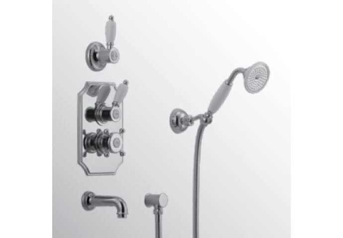 Huber Victorian Thermostatische Inbouw Doucheset Goud 915.VT01H.AG