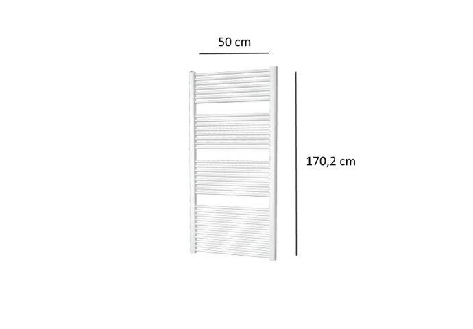 Designradiator Plieger Palermo 799 Watt Zijaansluiting 170,2x50 cm Wit