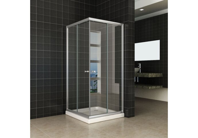 Douchecabine Wiesbaden Aktie Hoekinstap 100x100x190 cm 5mm Helder Glas