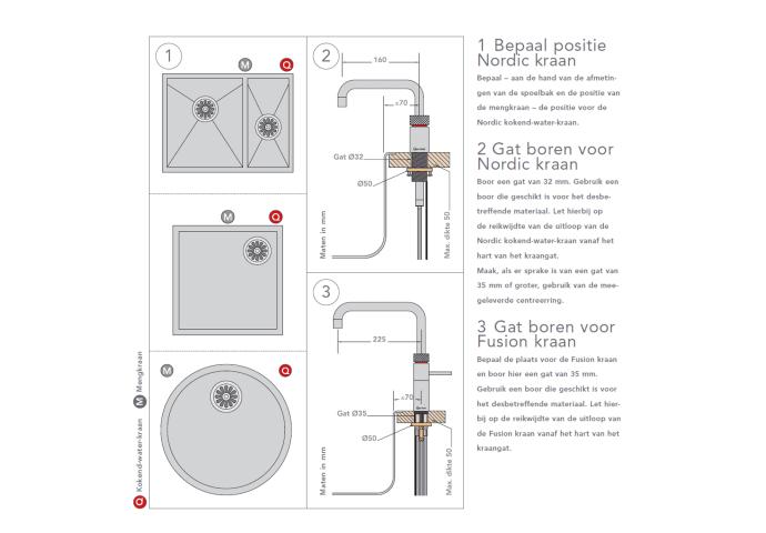 Quooker Fusion Square Chroom met PRO3 VAQ-E Boiler