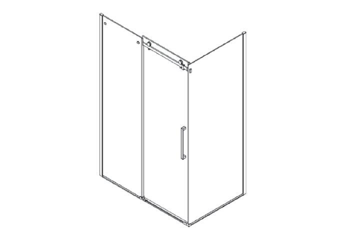 Douchecabine Boss & Wessing D&R Design Met Roldeur Helder Glas 120x...cm