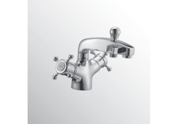 Huber Victorian Thermostatische Badkraan voor badrandmontage Chroom/Goud 107.VT01H.CA
