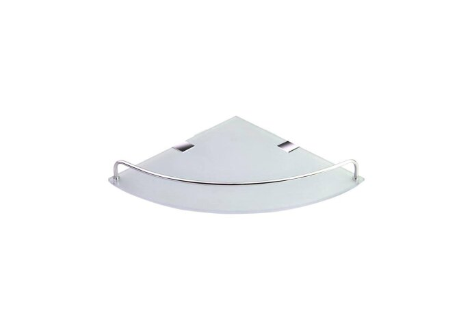Glazen Hoek Planchet Sapho Rumba 25x4.2x25 cm Chroom