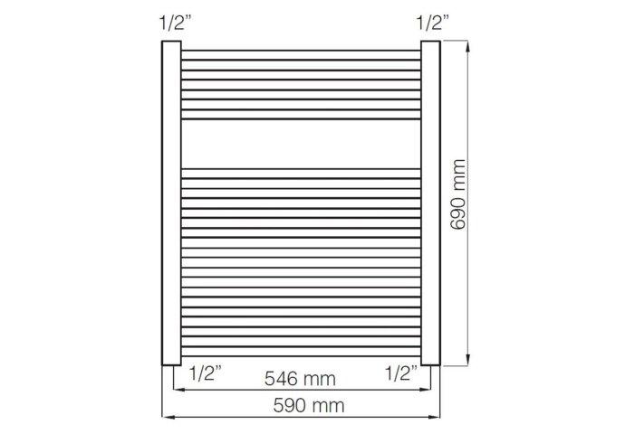 Designradiator Haceka Gobi Adoria 59x69 cm Zwart 6-Punts Aansluiting (368 Watt)